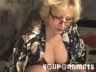 YouPornMate Asmin Shows Large Mature Breasts...