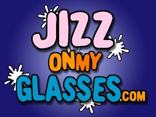 Cum facial on glasses gets jizzed...