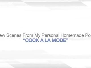 Cock a la mode food fetish amateur