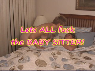 Milf hubby and friend fuck baby sitter