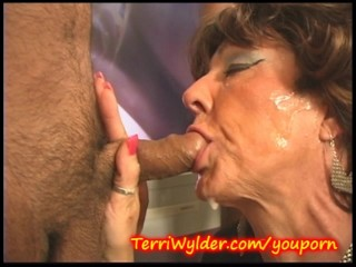 Milf swallows it all and wants more...
