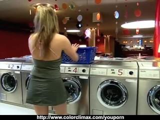 Raunchy laundromat sex...