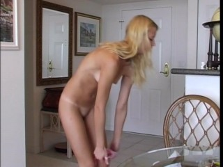 Blonde amateur takes her boyfriends cock