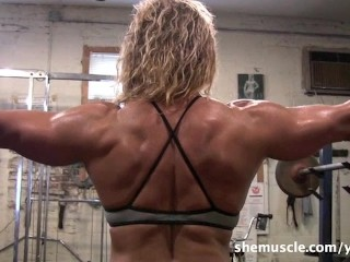 Sexy Mature Blonde Workout...