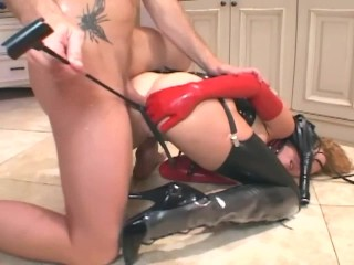 redhead-anal-in-boots-a-corset-and-latex-gloves