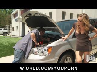 Stunning blonde british tate fucks her car mechanic...
