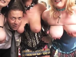 Blown by british babe with big tits