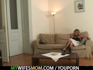 Hot Mother In Law Enjoys Cock Riding...