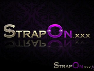 StrapOn Stunning blonde pegging her ripped boyfriend