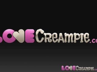 Love creampie busty brit takes internal spunk load...