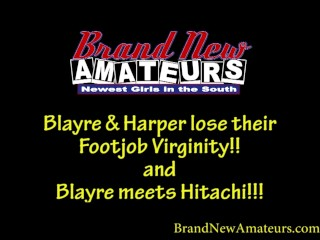 Brandnewamateurs mega hotty blonde blayre and redhead harper...