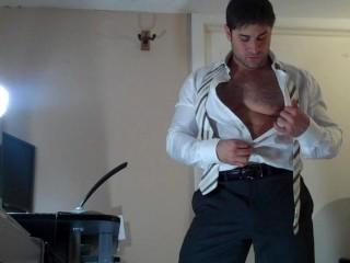 Muscle boss shoot cum...