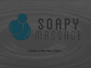 Soapymassage sexy readhead bathtub bj