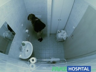 Fakehospital shows off her gymnastic skills...