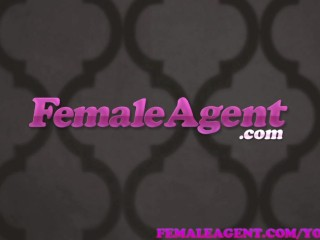 Femaleagent  all over the couch by casting stud