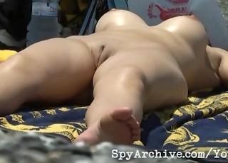 Of Naked Girl Exposing Her Tight...