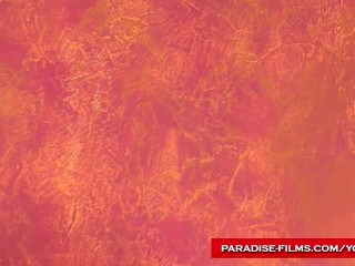 Paradise films stunning horny lesbians...