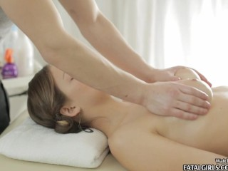 Busty babe gets an anal massage...