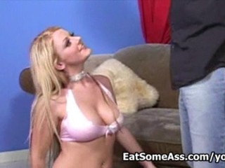 Cute little horny dee eats bung hole then gets messy facial...