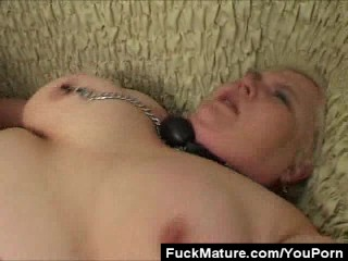 BBW Mature Slave Fucked And Jizzed!