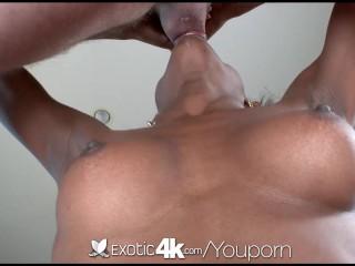 Exotic4K - Sexy ebony Tiffani Taylor gets a super soaker facial