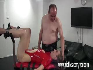 Extreme slut bondage...