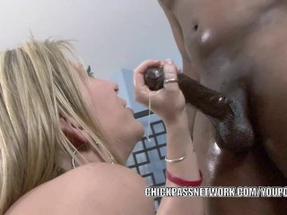 Mature slut gets pounded with some black dick...