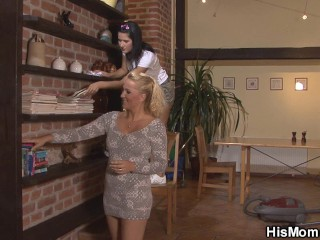 Blonde Seduces Cute Girl...