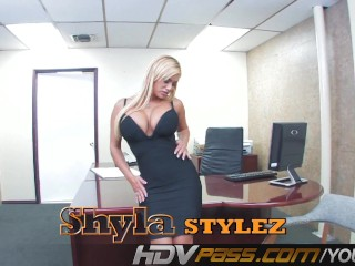 Shyla stylez is a office whore...