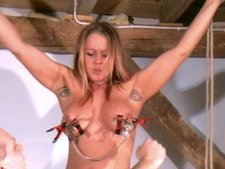Busty amateur bdsm of crazy painslut Gina