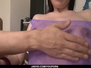 Sofia Takigawa dirty bondage toy porn on cam