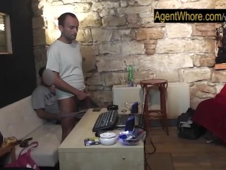 Redhead Agent Whore makes this guy really horny...