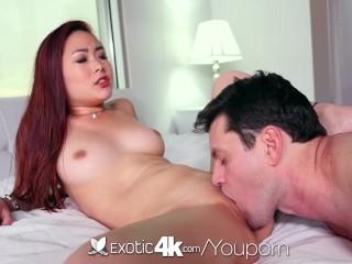 Exotic4K - Asian babe, Lea Hart, sucks and fucks her man