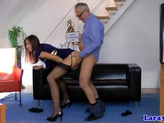 British stockings milf creampied in ffm...