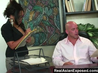 RealAsianExposed   Jessica Bangkok Is the Best Secretary Ever