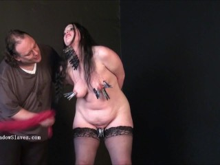 Bbw bdsm of fat runt in phobia electro fetish and humiliating domination of slave girl Emma