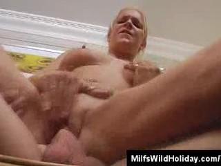Milf Heidi Horses Around With His Guy