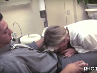 Playing the blonde dentist