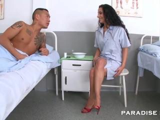 Nurse feet fetish hospital