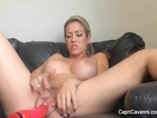 Blonde Capri Cavanni play dildo masturbation