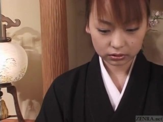Subtitled mourning wife aya otosaki debt payback...