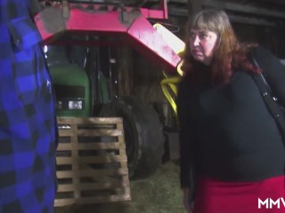 Fat german mom pounded barn...