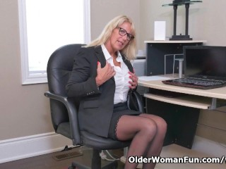 Bianca masturbates office...