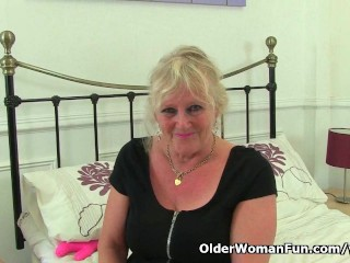 English Granny Claire Knight Works Her Old...
