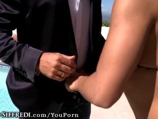 Rocco Siffredi and Abella Danger Anal Threesome!