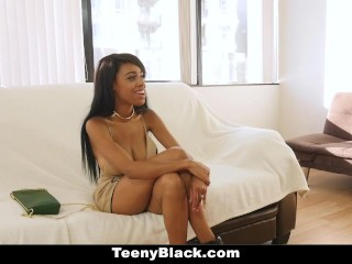 TeenyBlack - Volupteuous Ebony Gets Hairy Pussy Rammed