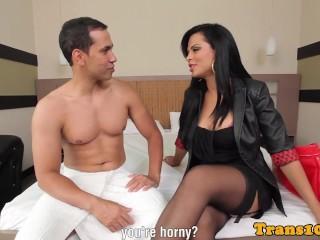 Latina tgirl beauty fucked in nice round ass...