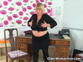 English Bbw Milf Melons Marie Needs Getting...